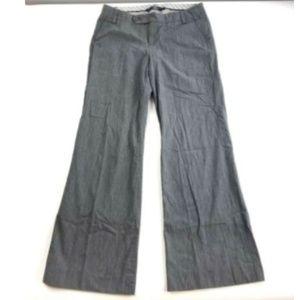 Gap Womens 2 Wide Leg Dress Pants Gray Stripe Xs